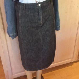 Designer denim skirt